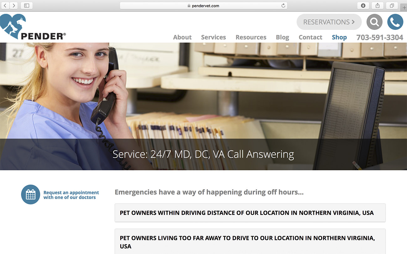 Emergence service 24 hours - Marketing for vaterinary clinics