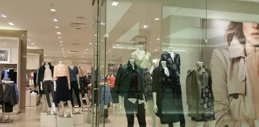 Clothing store showcase