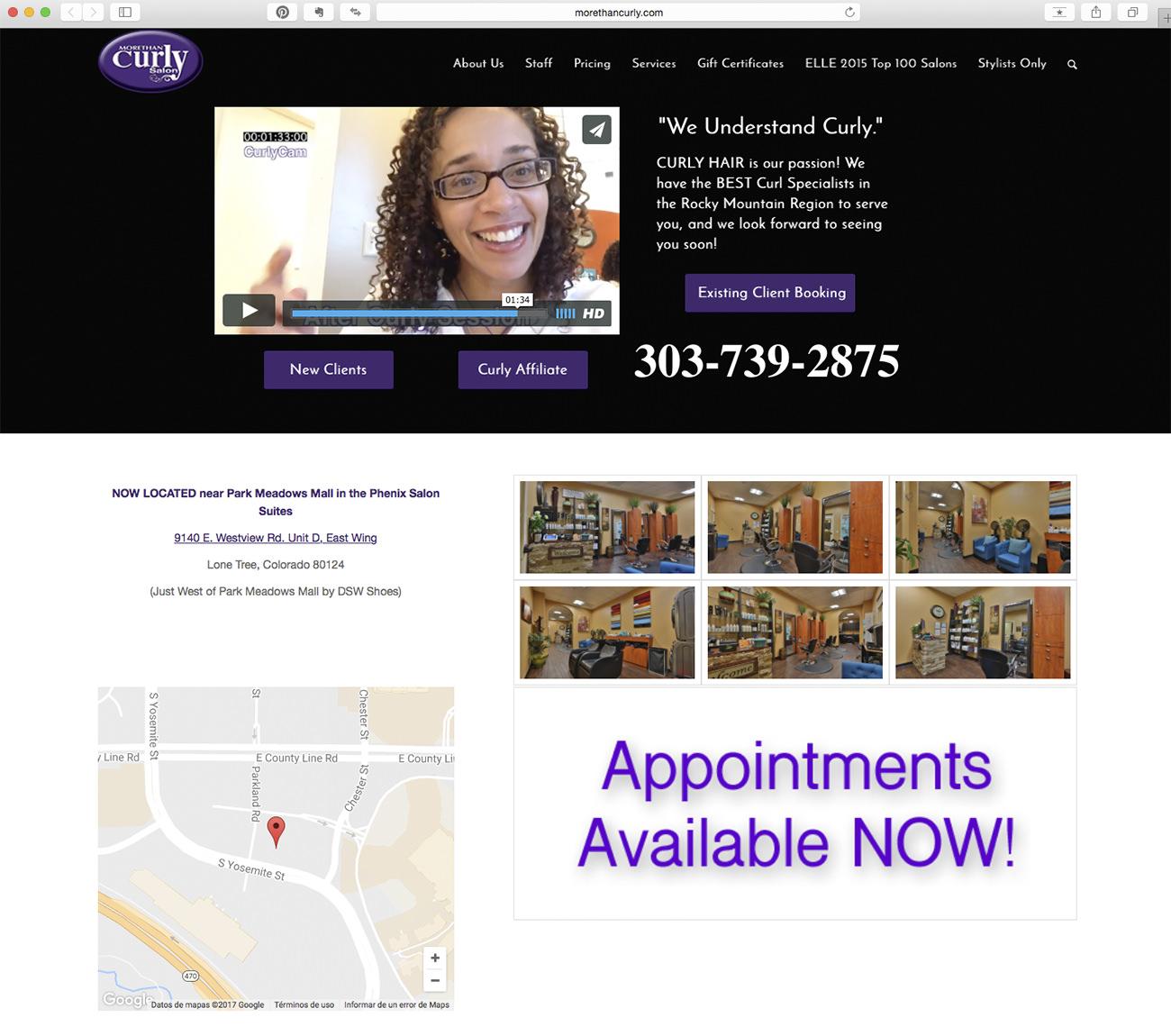 Marketing para peluquerías. Ejemplo More than curly salon.