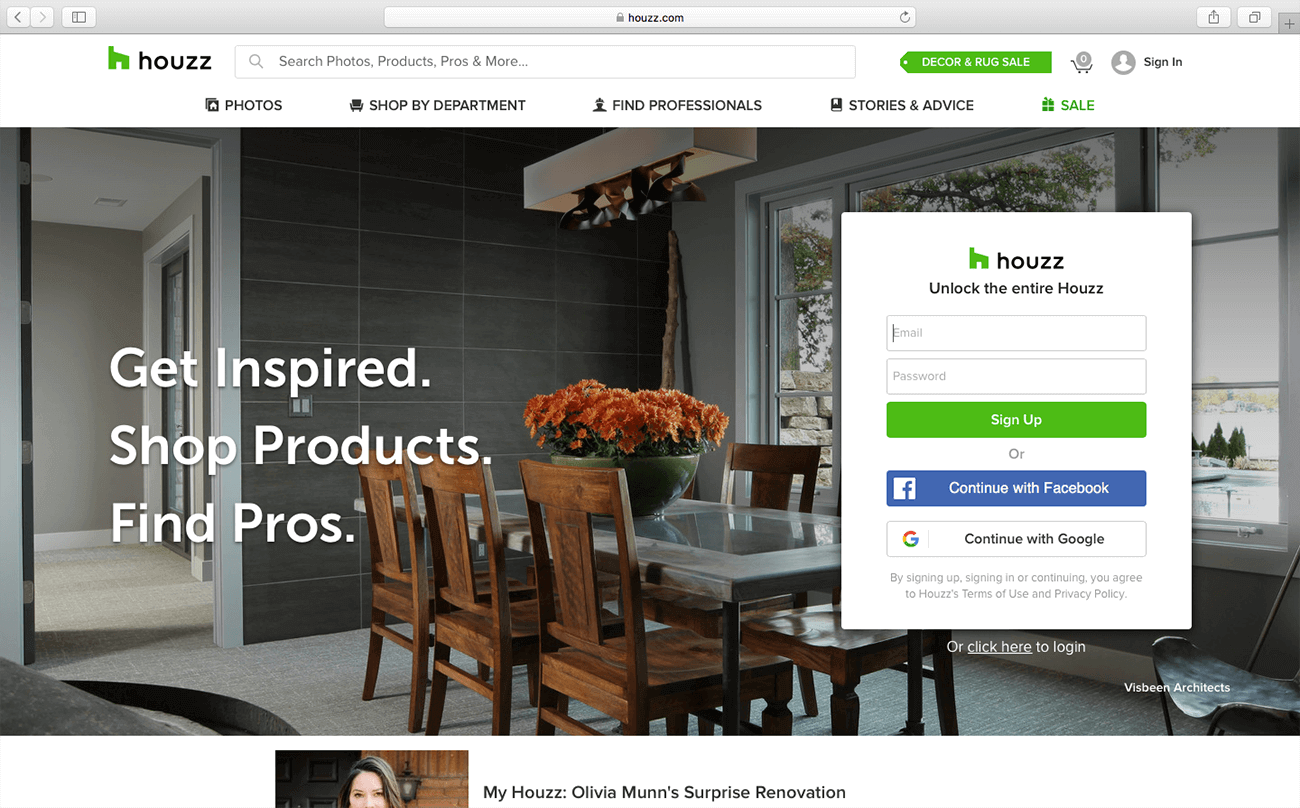 marketing for architects houzz