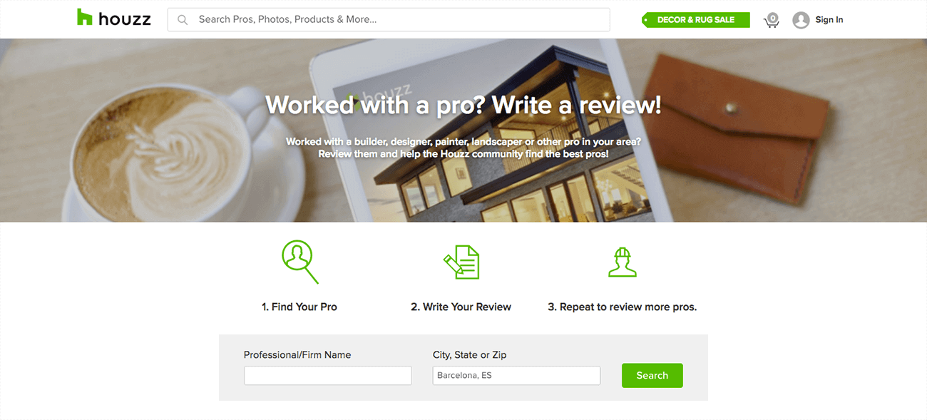 marketing para arquitectos reseña houzz