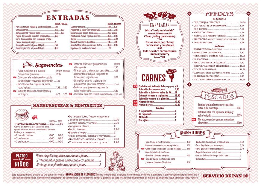 marketing para restaurantes ejemplo carta