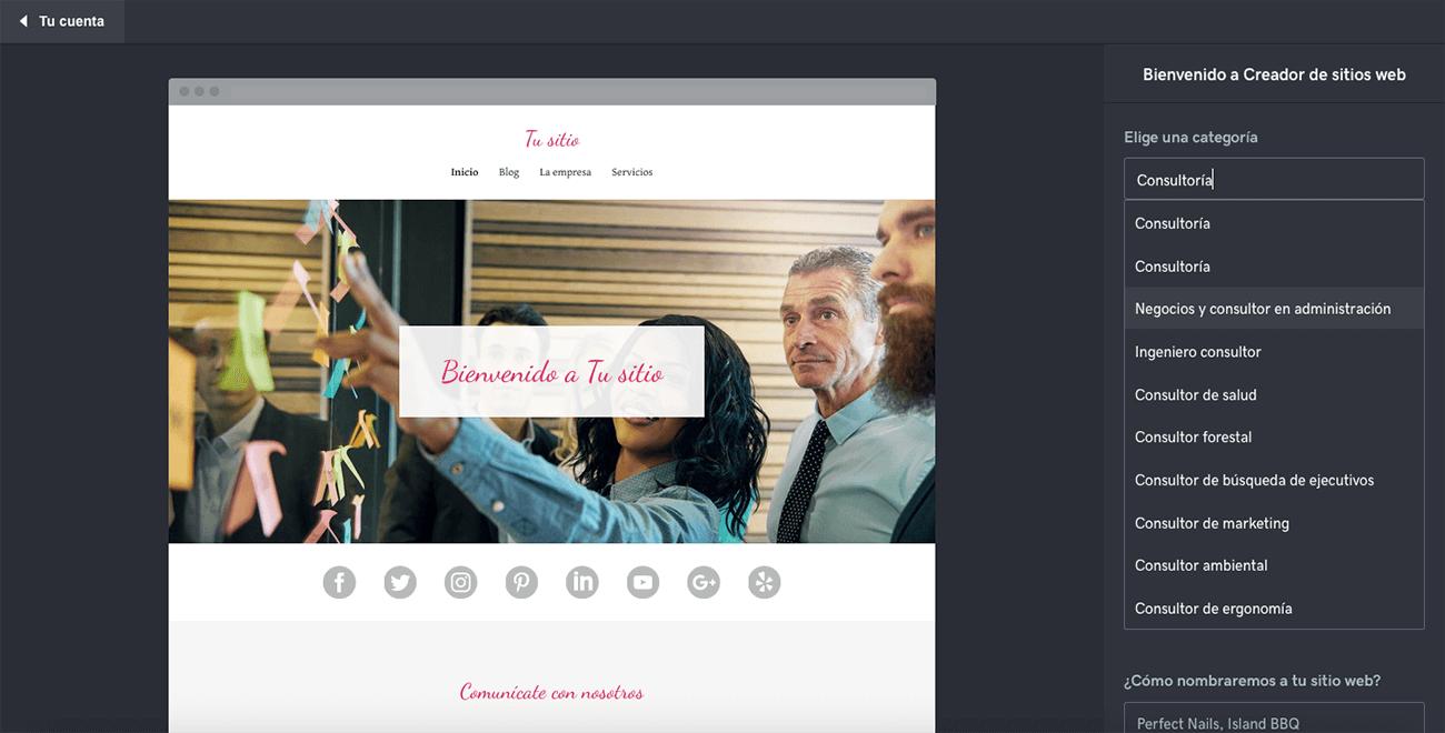 como crear una pagina web profesional godaddy