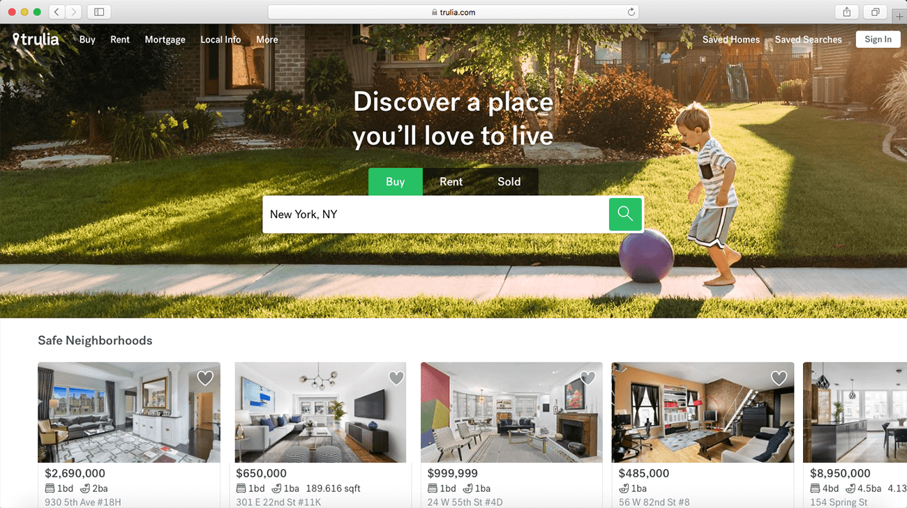 Marketing For Real Estate Agencies Property Website Example