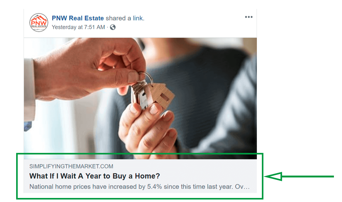 Facebook for real estate agents. Content curation.