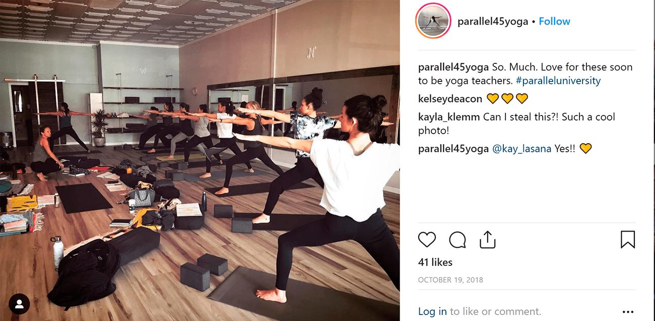 Marketing para yoga. Parallel 45.