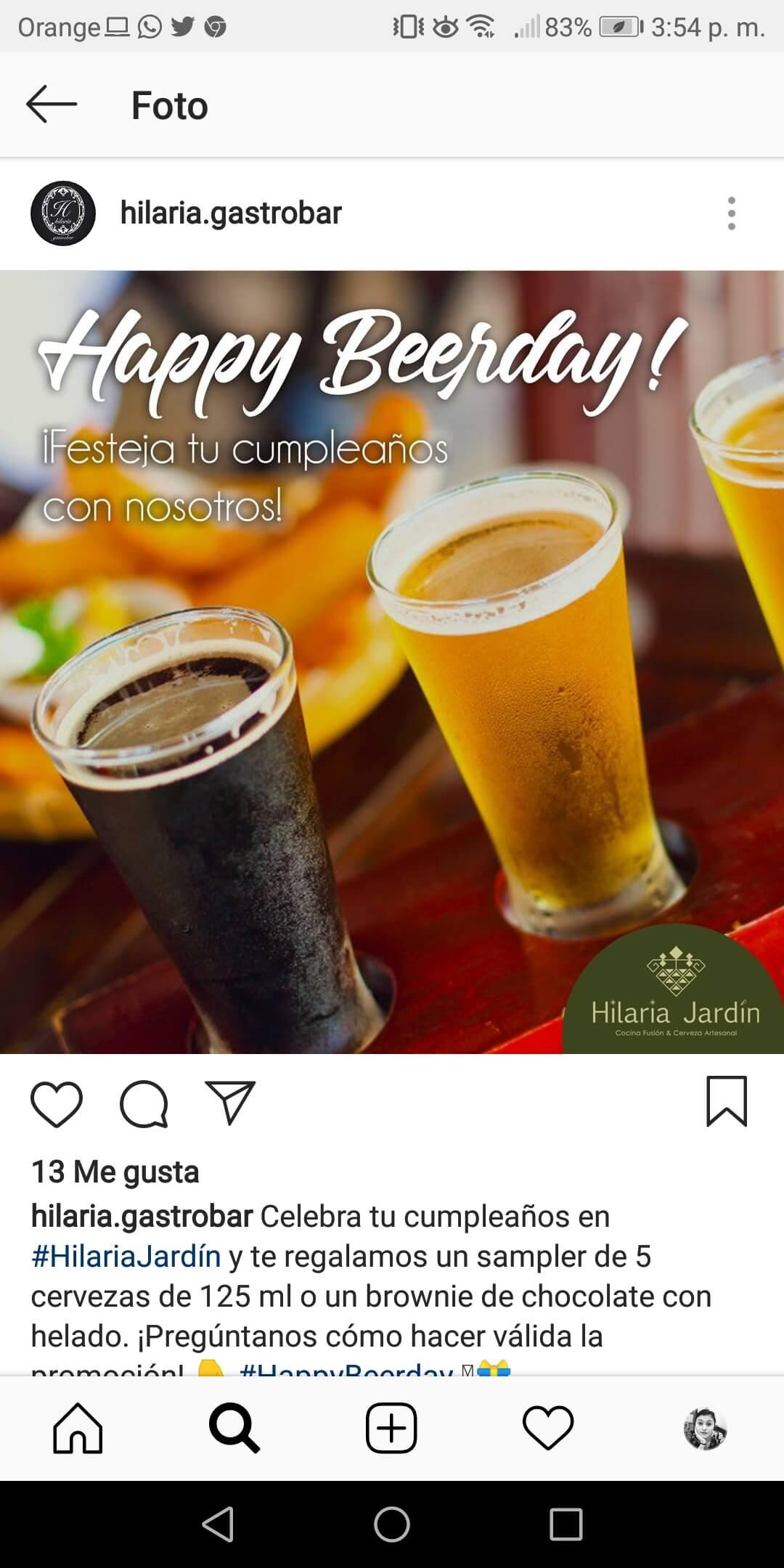 Instagram para empresas. Ejemplo 3.