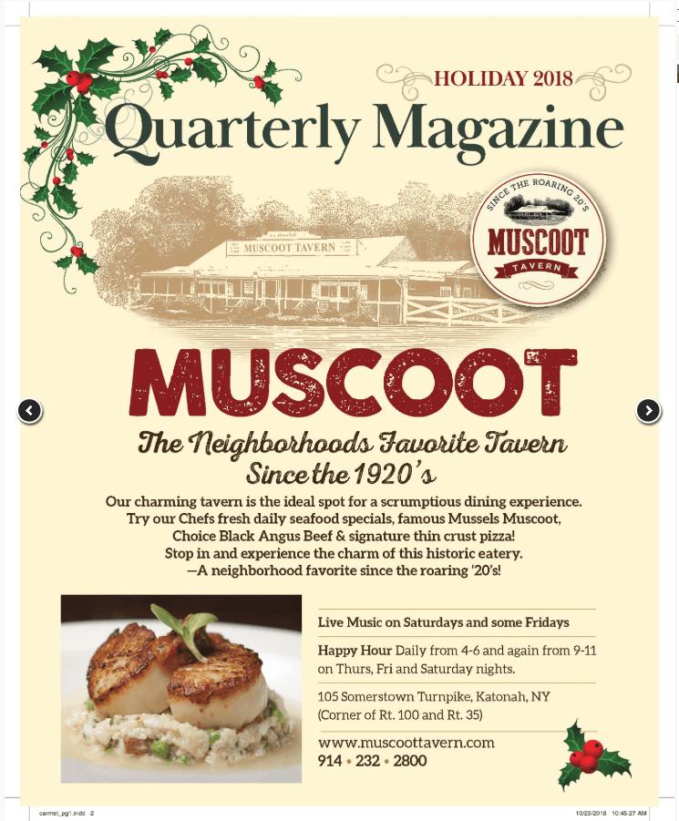 Publicidad en revistas locales. Primera pagina de quarterly magazine.
