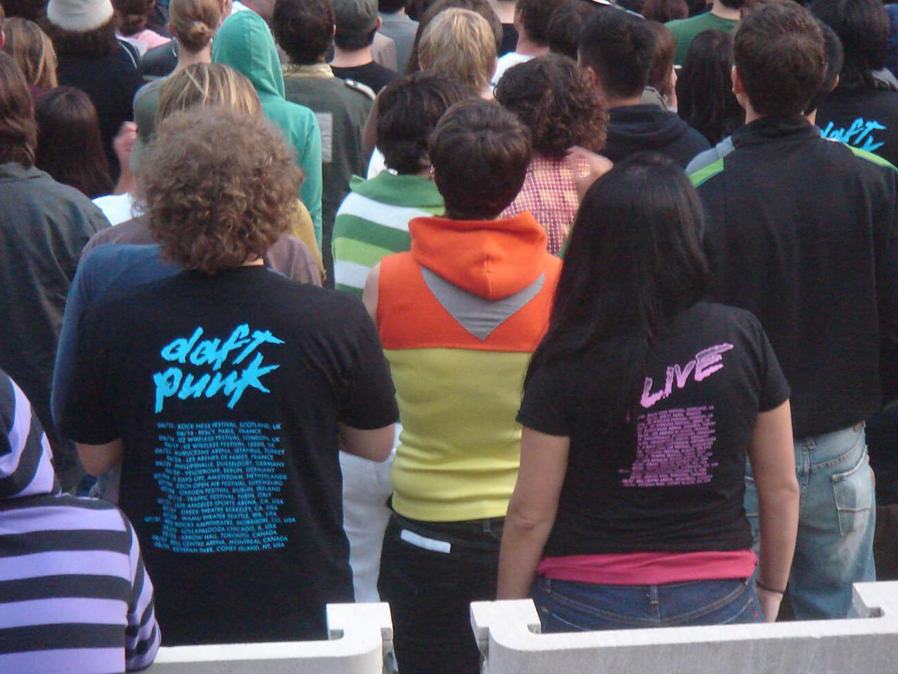 Marketing musical. Foto fans de Daft Punk.