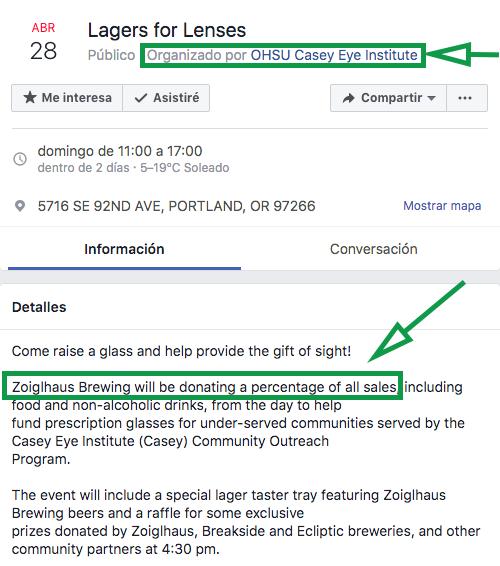Estrategias de marketing para eventos. Lagers for lenses asociacion para evento.