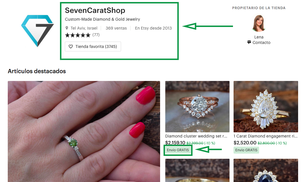 Jewelry marketing. Etsy Shop.