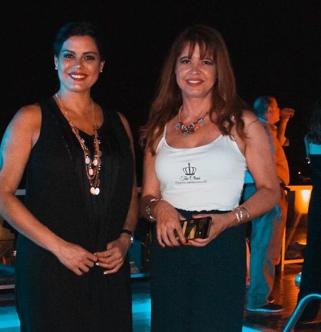 Marketing para organización de eventos. Achu Ghiglione como presentadora de un lanzamiento realizado por TheClass junto a Rocio Venialgo