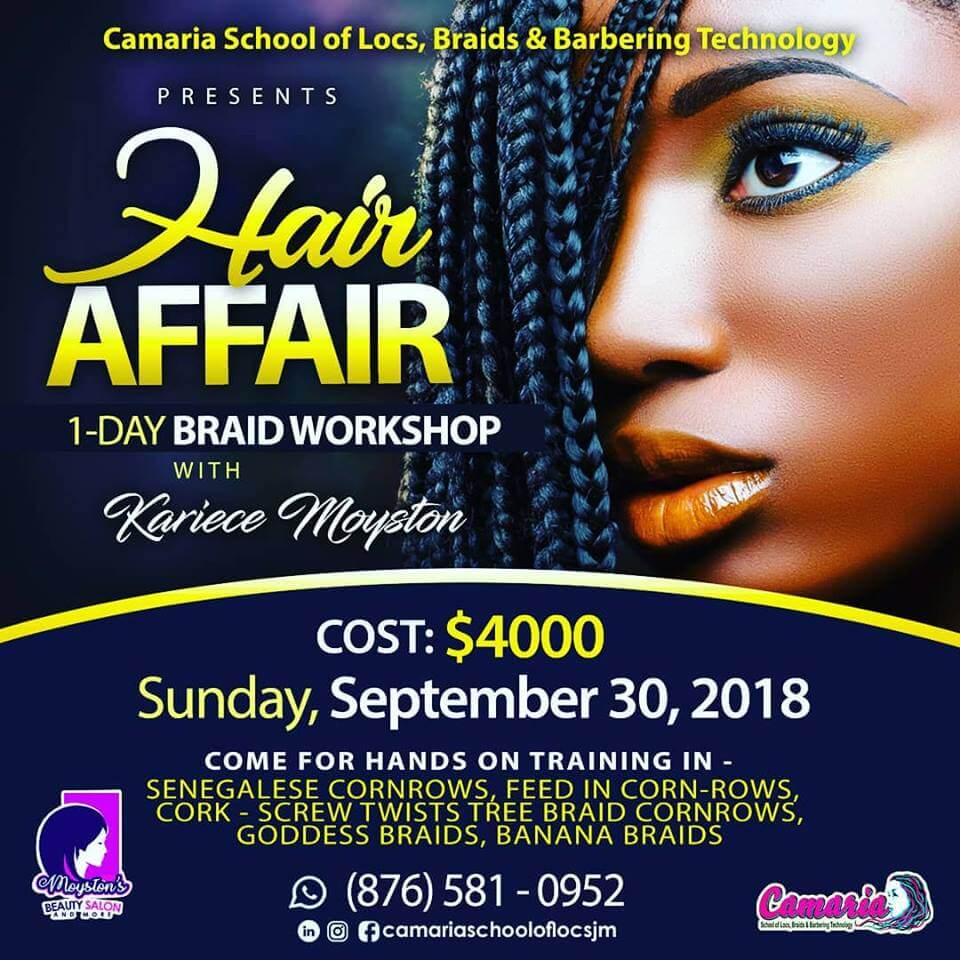 Camaria Beauty School. Hair Affair Workshop.