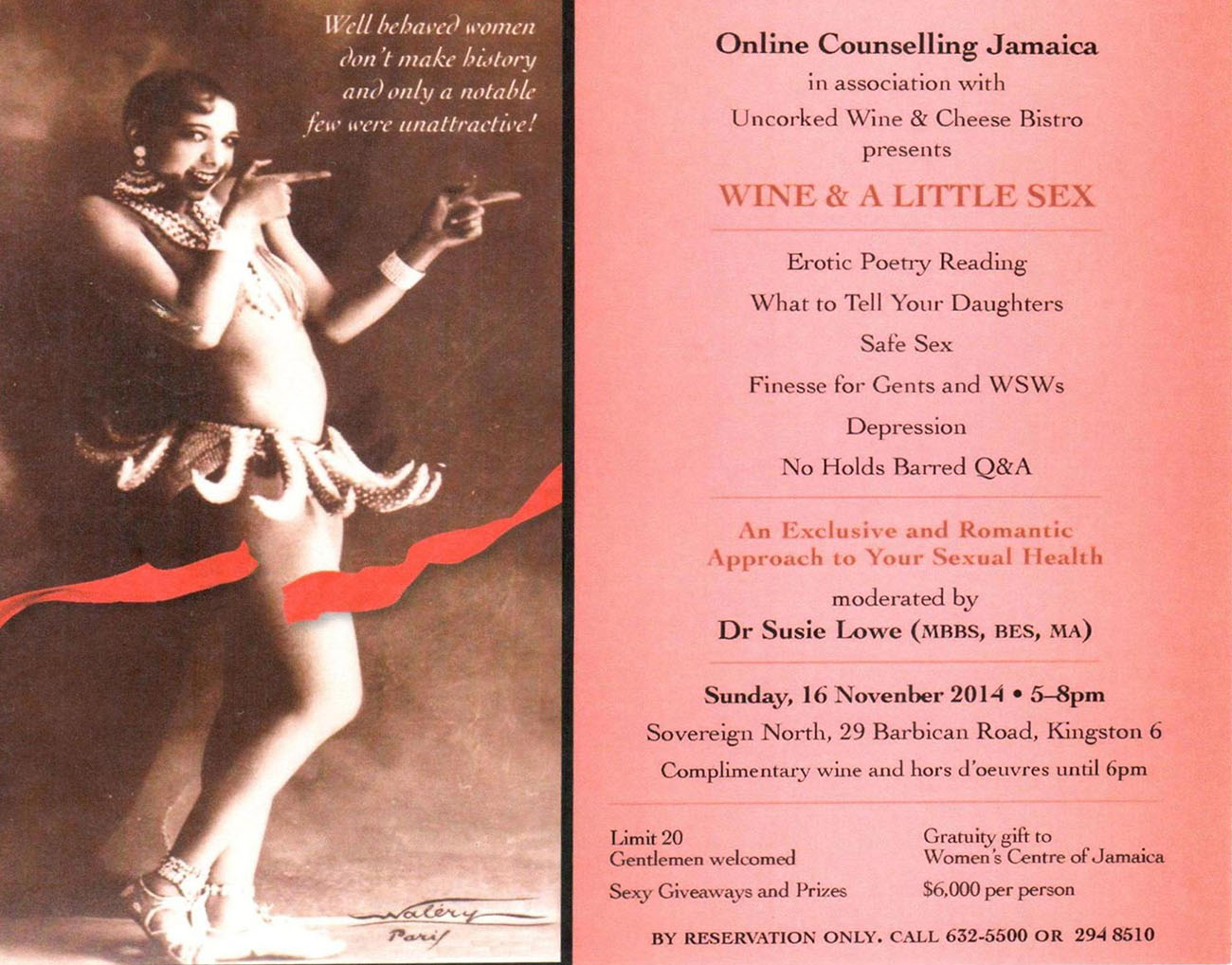Digitalization plan in Jamaica. Health Travel. Wine and A little sex event.