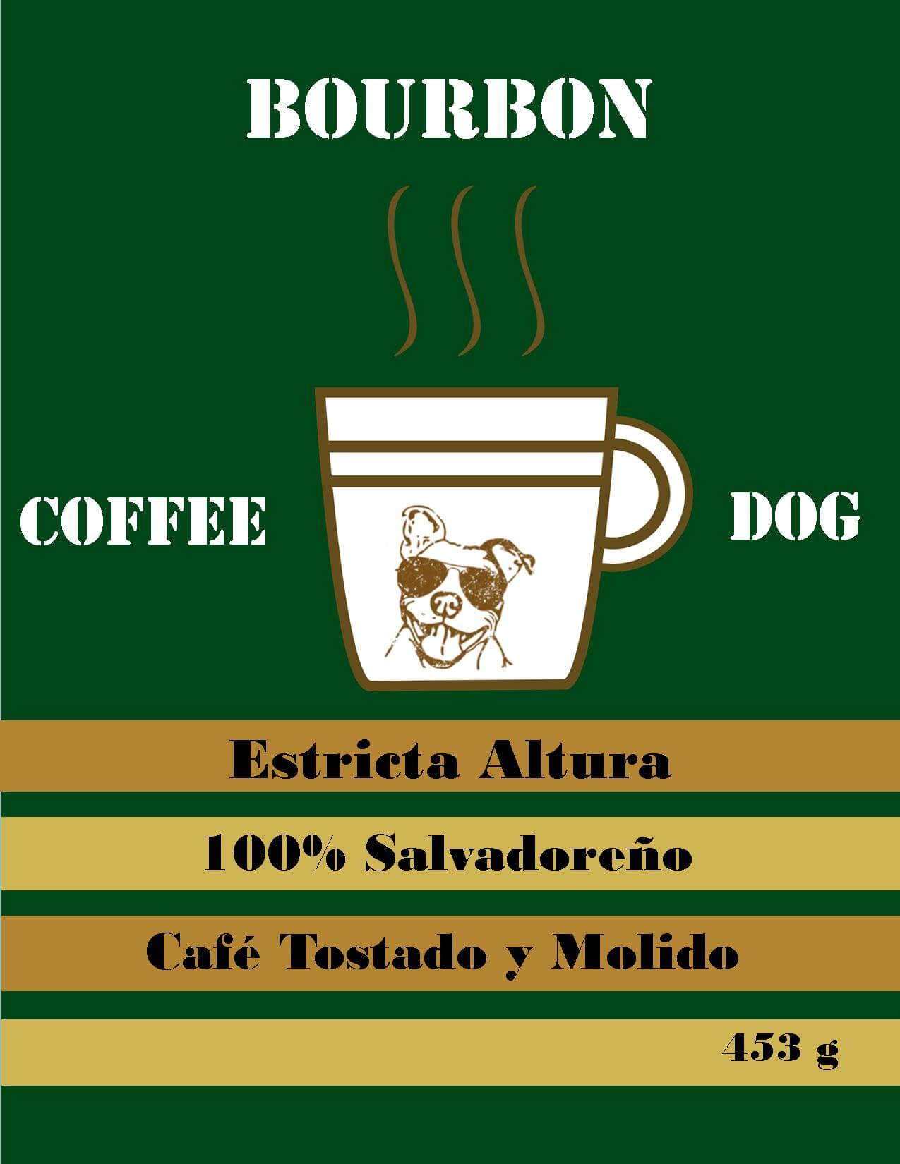 Plan de Digitalización El Salvador. Coffee Dog, logo del café.