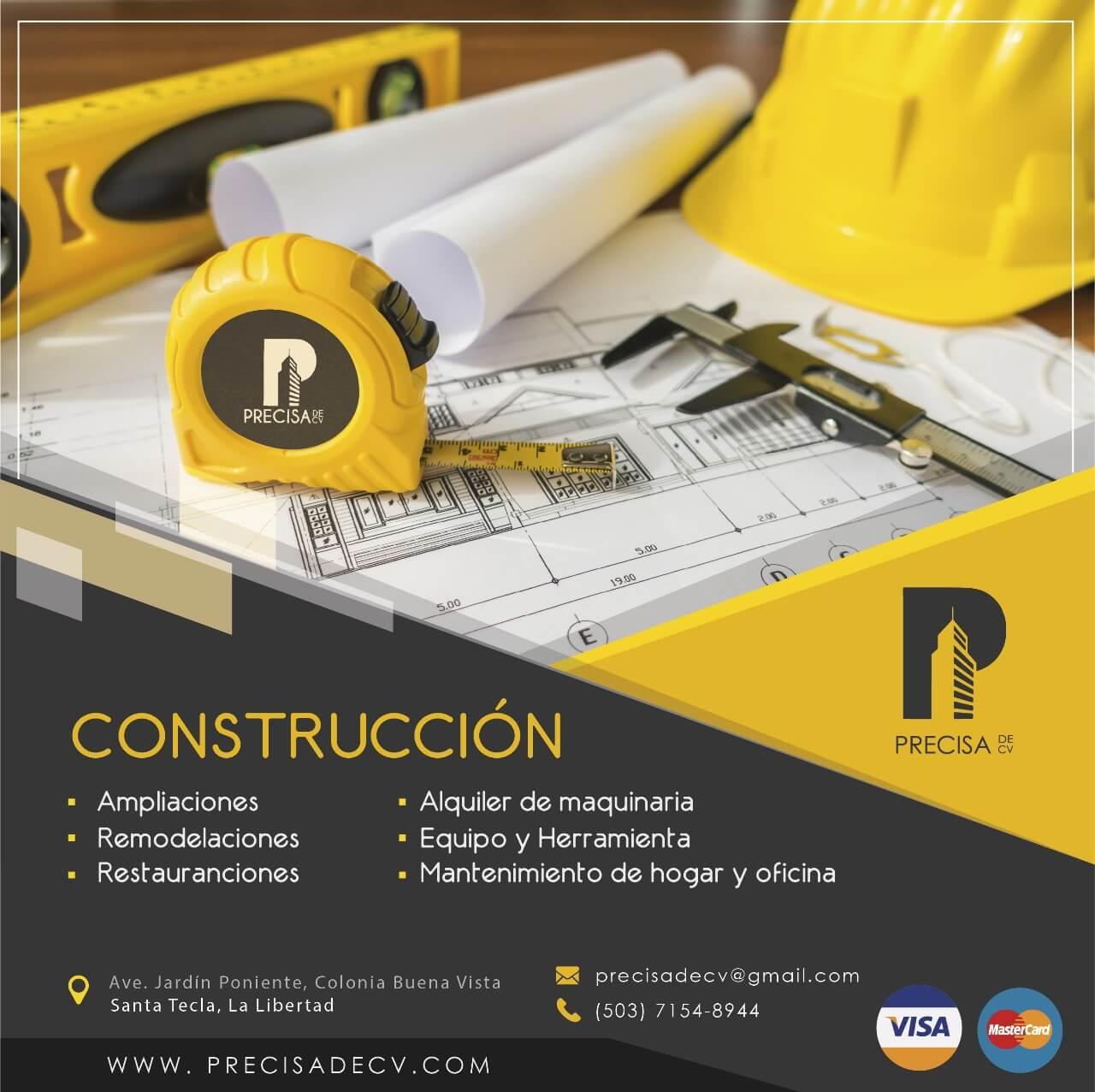 Precisadecv. Servicios de construcción.