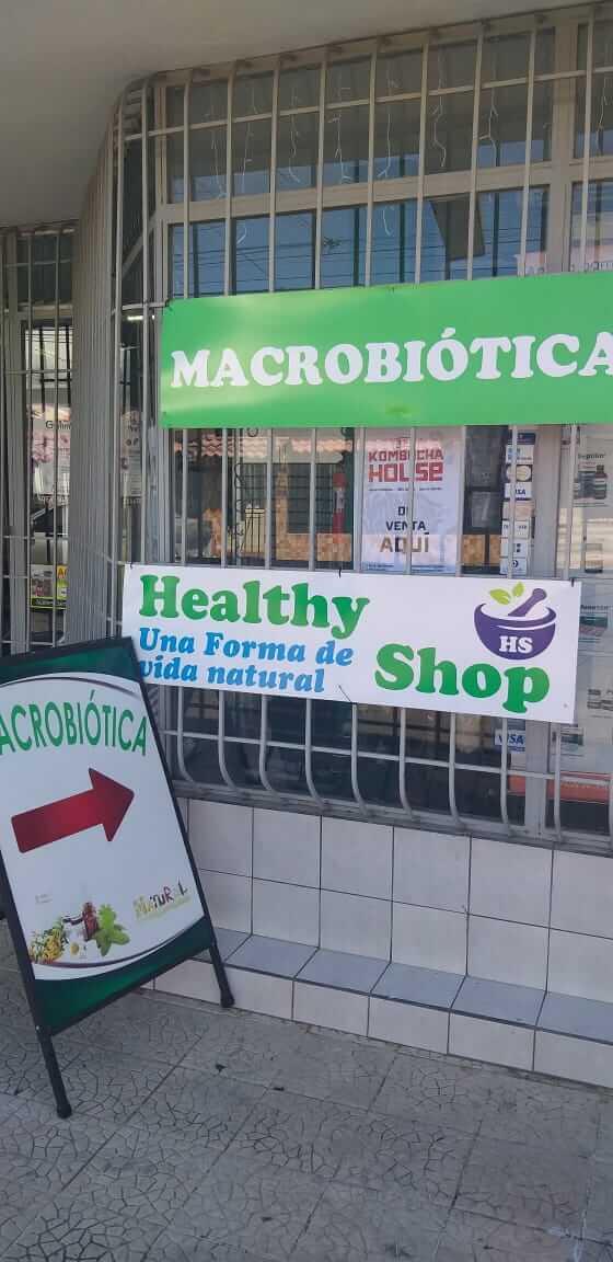 Macrobiótica Healthy Shop. Entrada del lugar.