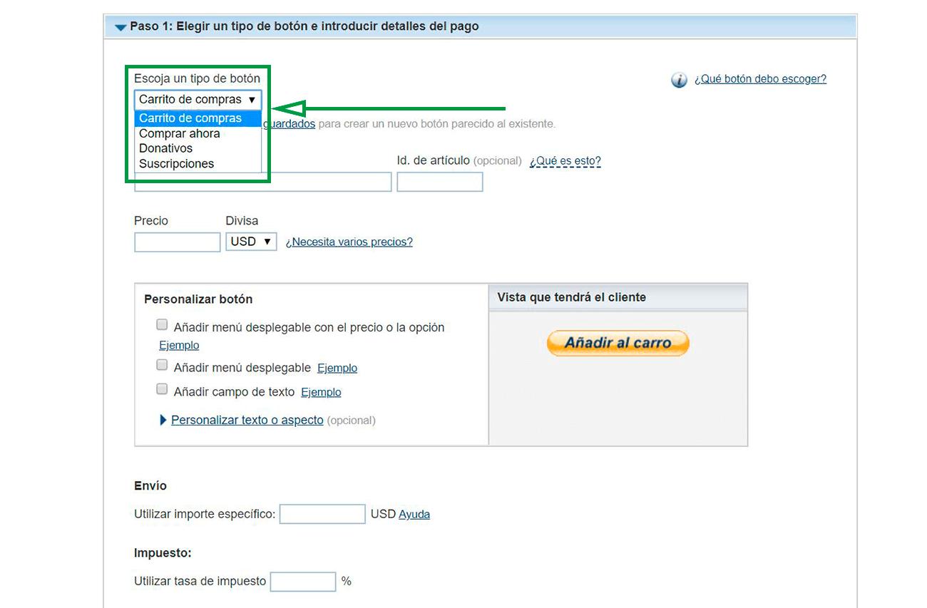 Cómo usar PayPal para recibir pagos como empresa. Creación de un botón PayPal