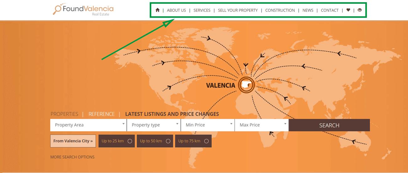 1 landing pages para inmobiliarias. homepage de found valencia