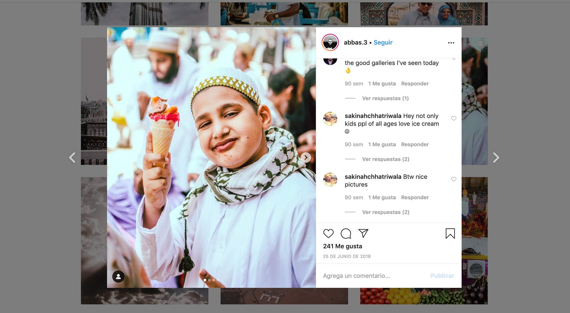 Cómo vender en Instagram. Niño tomando helado