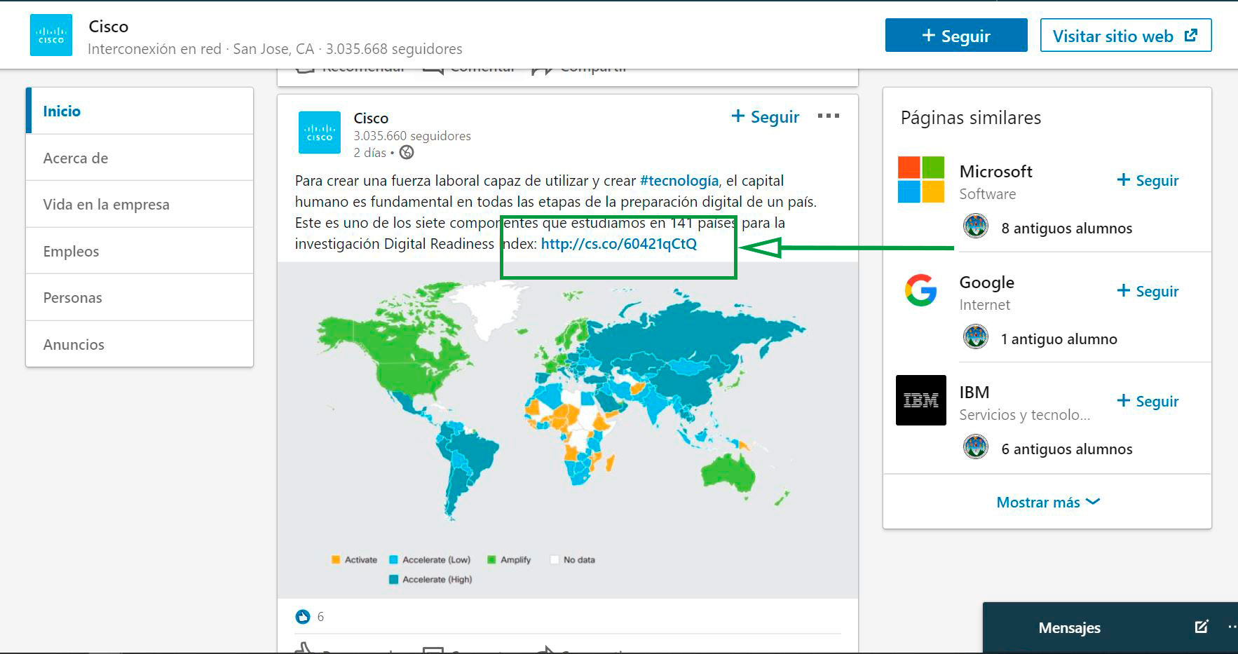 Cómo usar Linkedin para captar clientes. Post Cisco