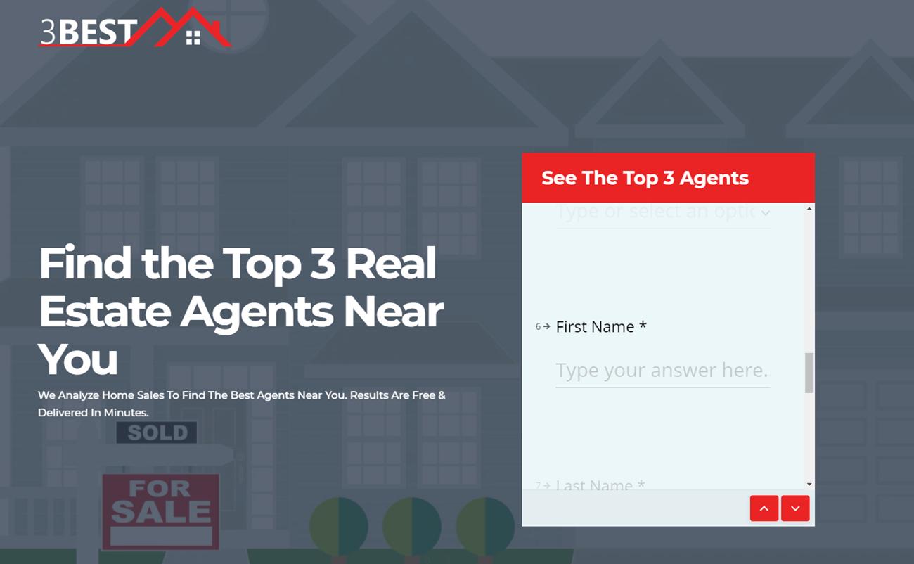5 landing pages para inmobiliarias. ejemplo de 3 best