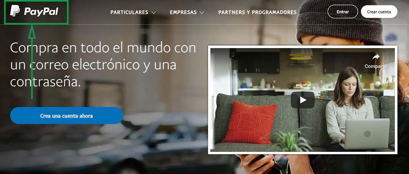 Cómo recibir pagos en PayPal como empresa. Página principal de PayPal