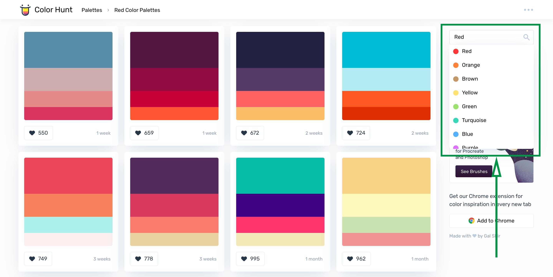 Posicionamiento de marca. Color Hunt