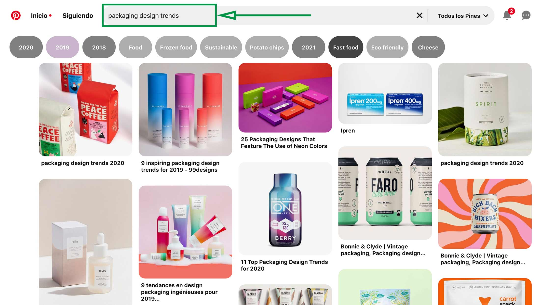Posicionamiento de marca. Referencias Pinterest