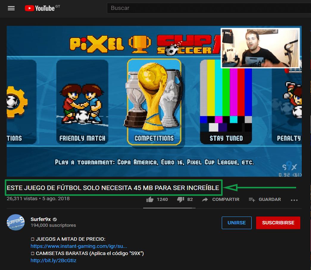 9. Marketing para videojuegos. Canal de YouTube