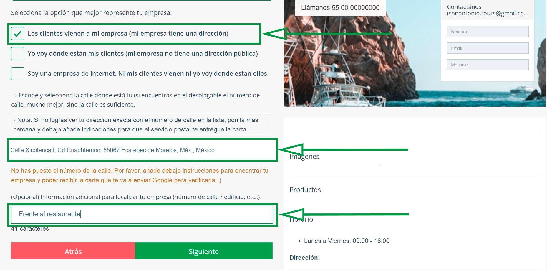 Crear página web para turismo. Los clientes vienen a mi empresa