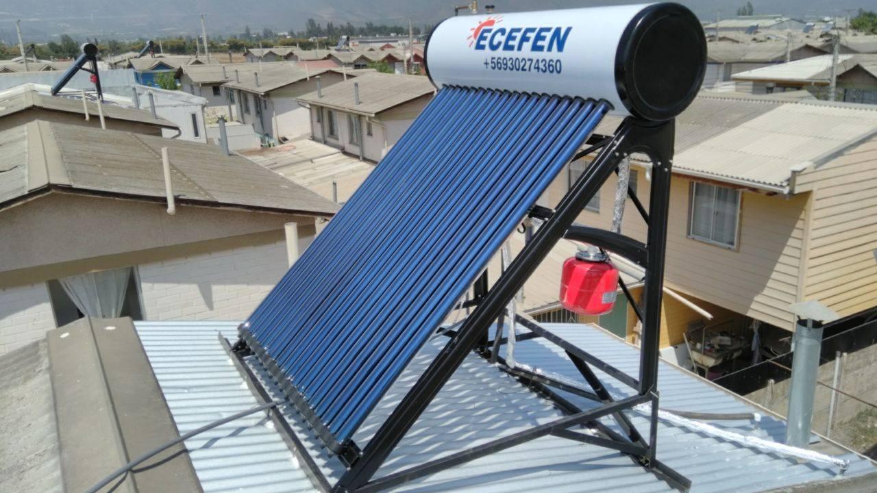 Ecefen. Panel de solar de lado