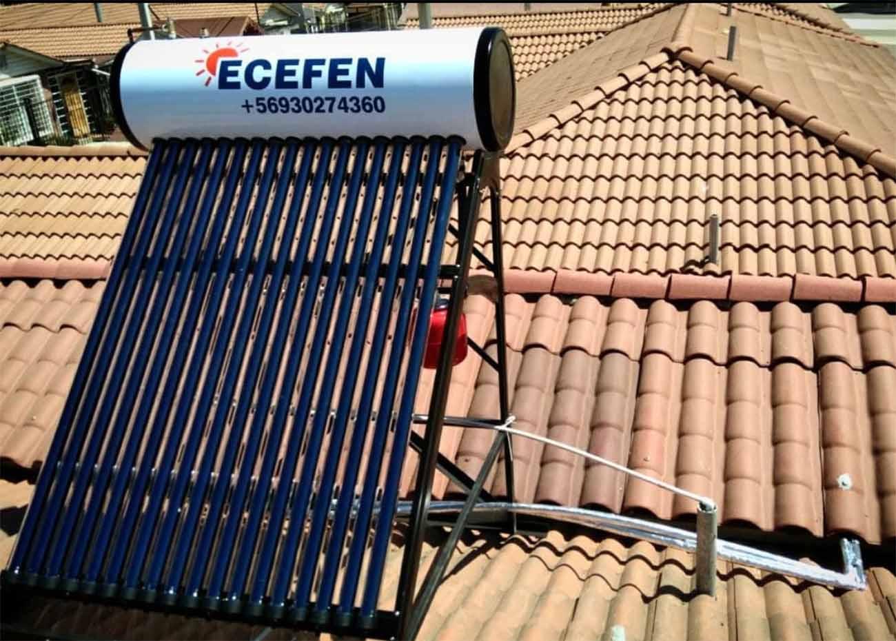 Ecefen. Panel sobre el tejado