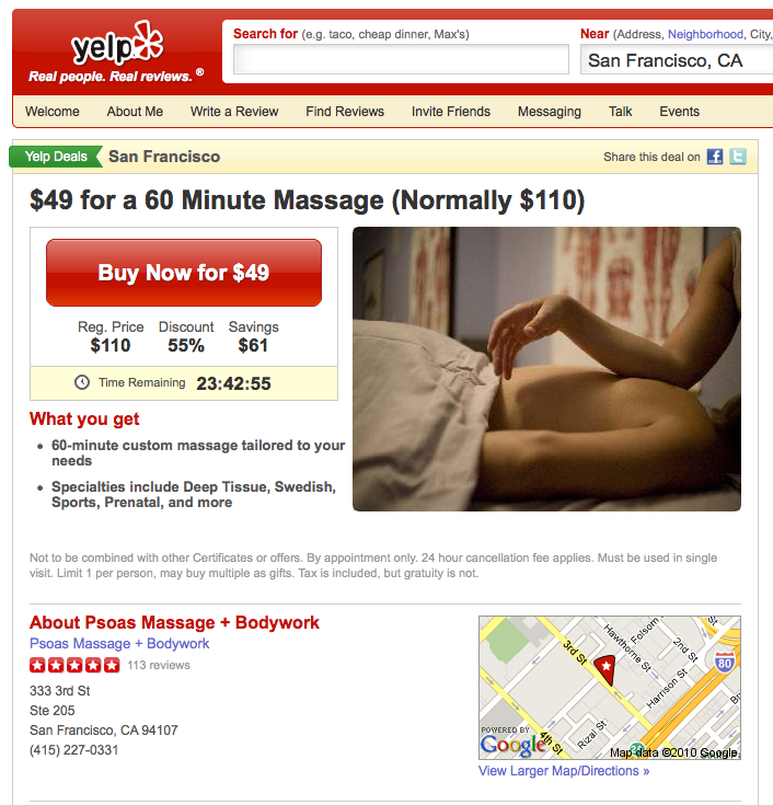 Yelp Deal