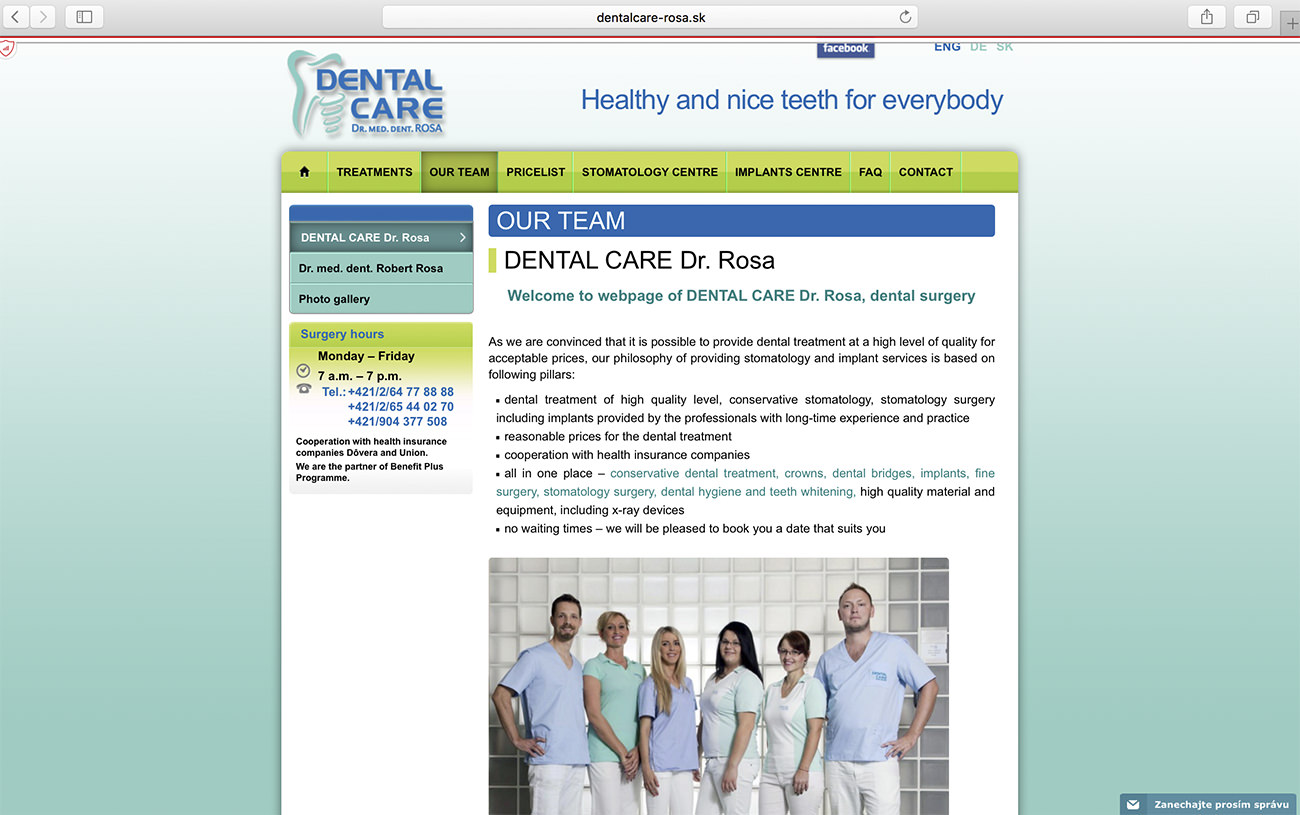Web de la clínica Doctor Rose - Marketing para clinicas dentales