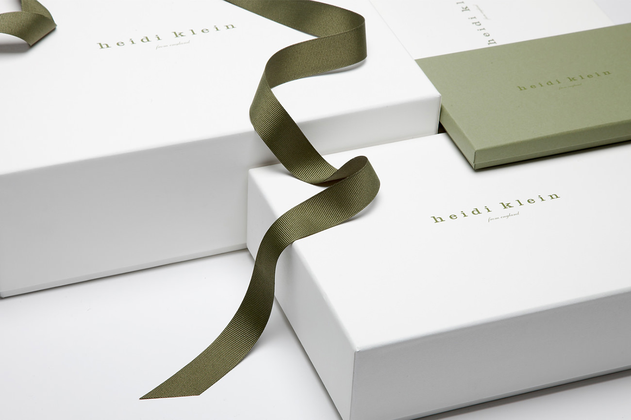 Packaging Heidi Klein - Marketing for clothing store