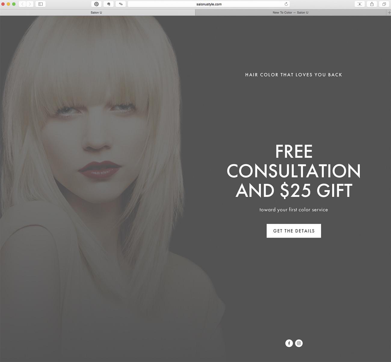 Marketing ideas for hair salons. Salon-U example.