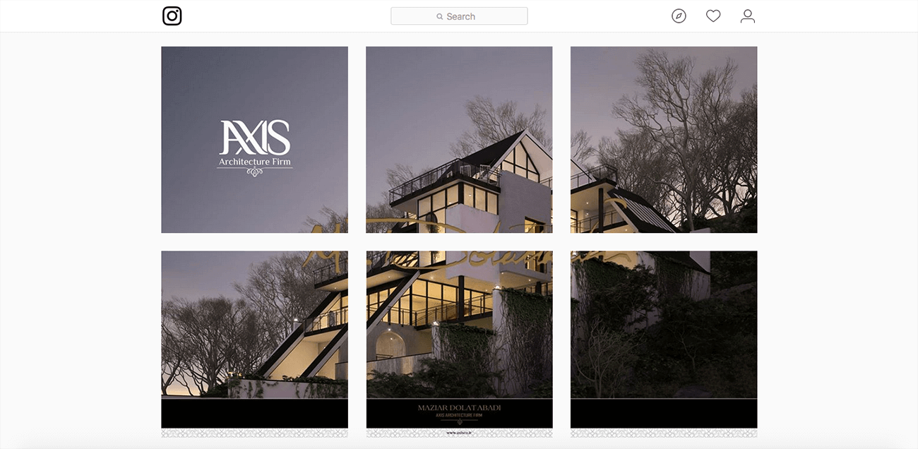 marketing for architects instagram example