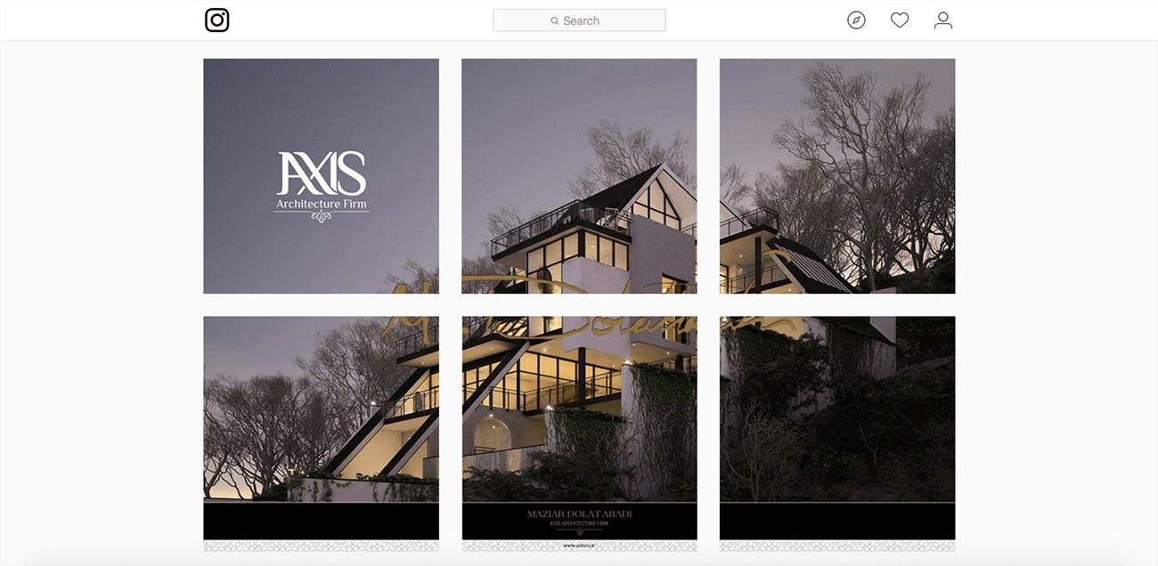 marketing para architectos ejemplo instagram