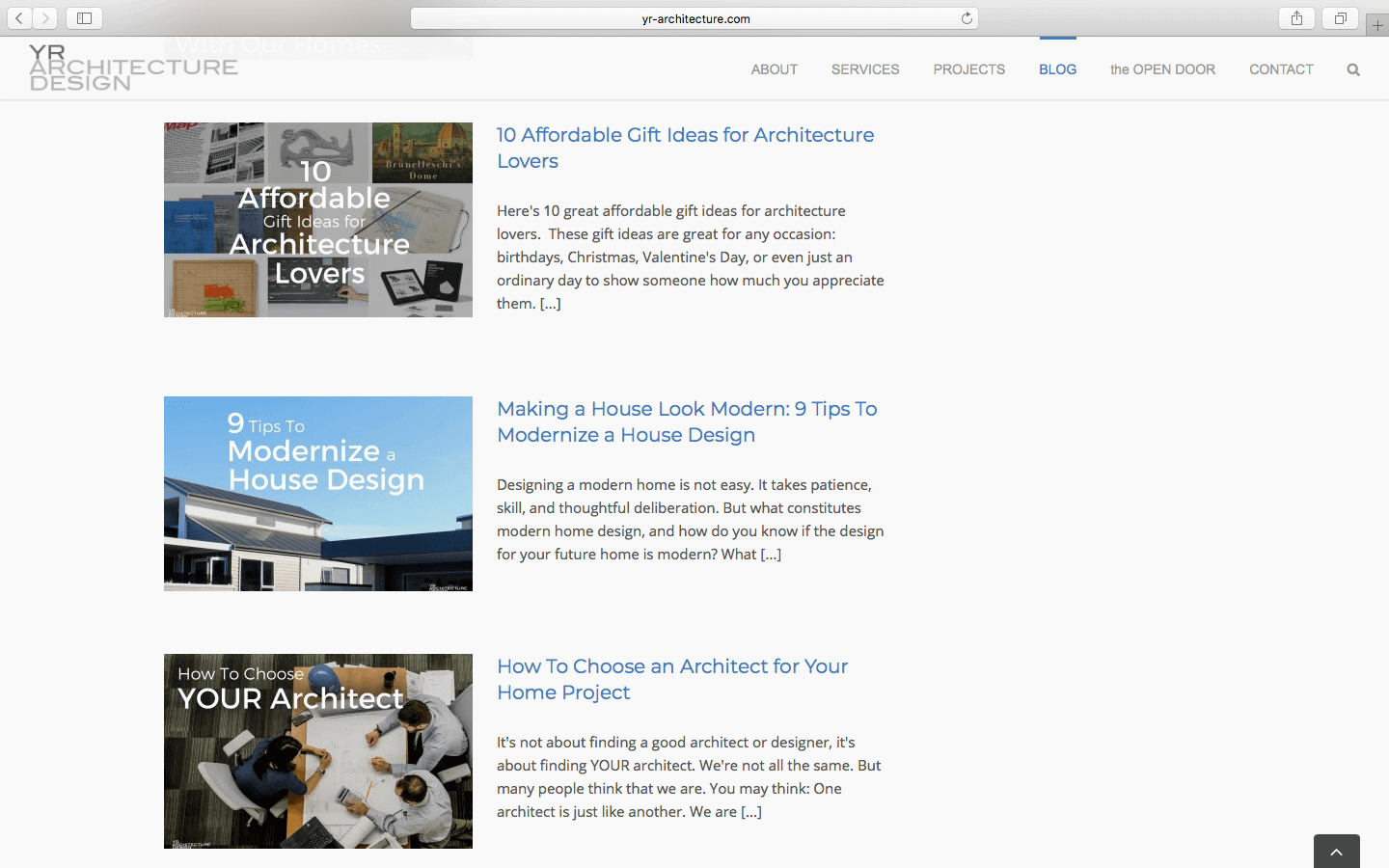 marketing for architects blog example