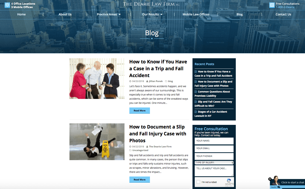 marketing for lawyers create a blog