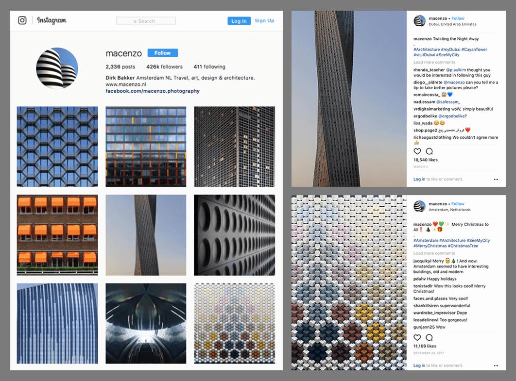 Marketing Photographers Instagram Profile Example