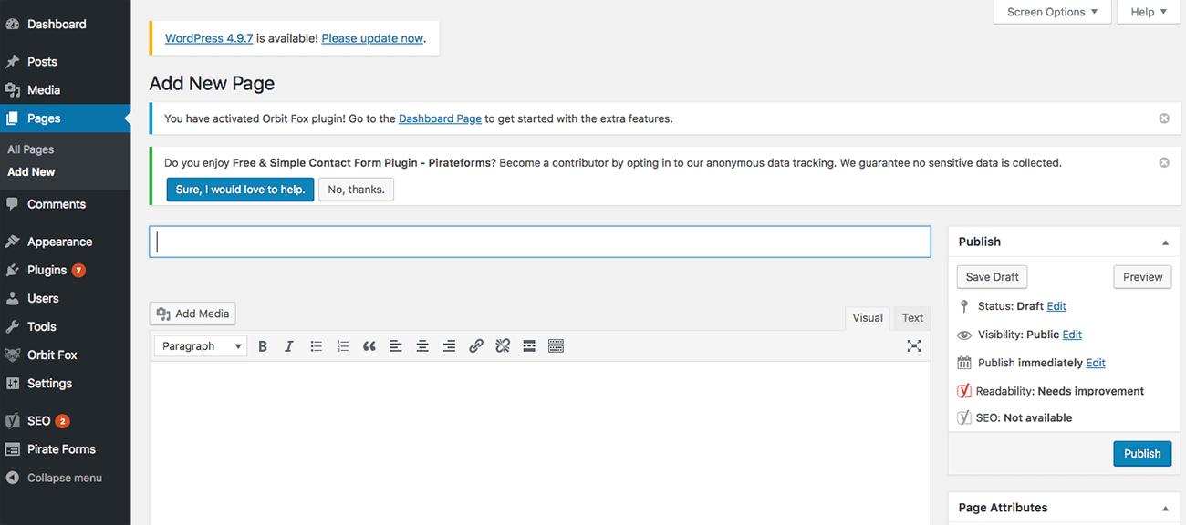 como crear una pagina web profesional wordpress