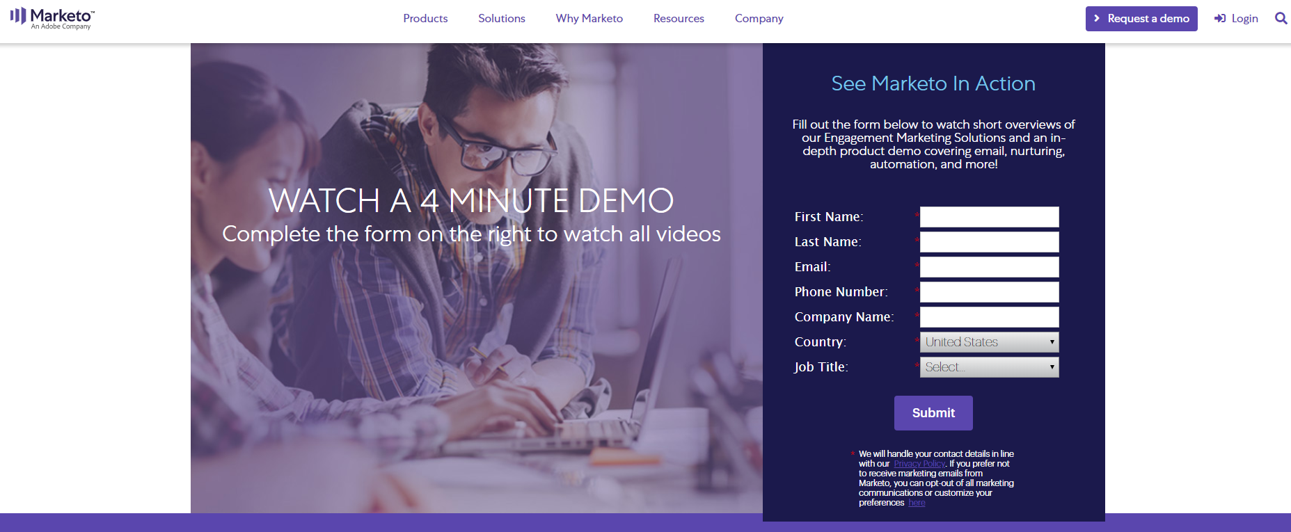 landing page anatomy for google ads campaign marketo landing page