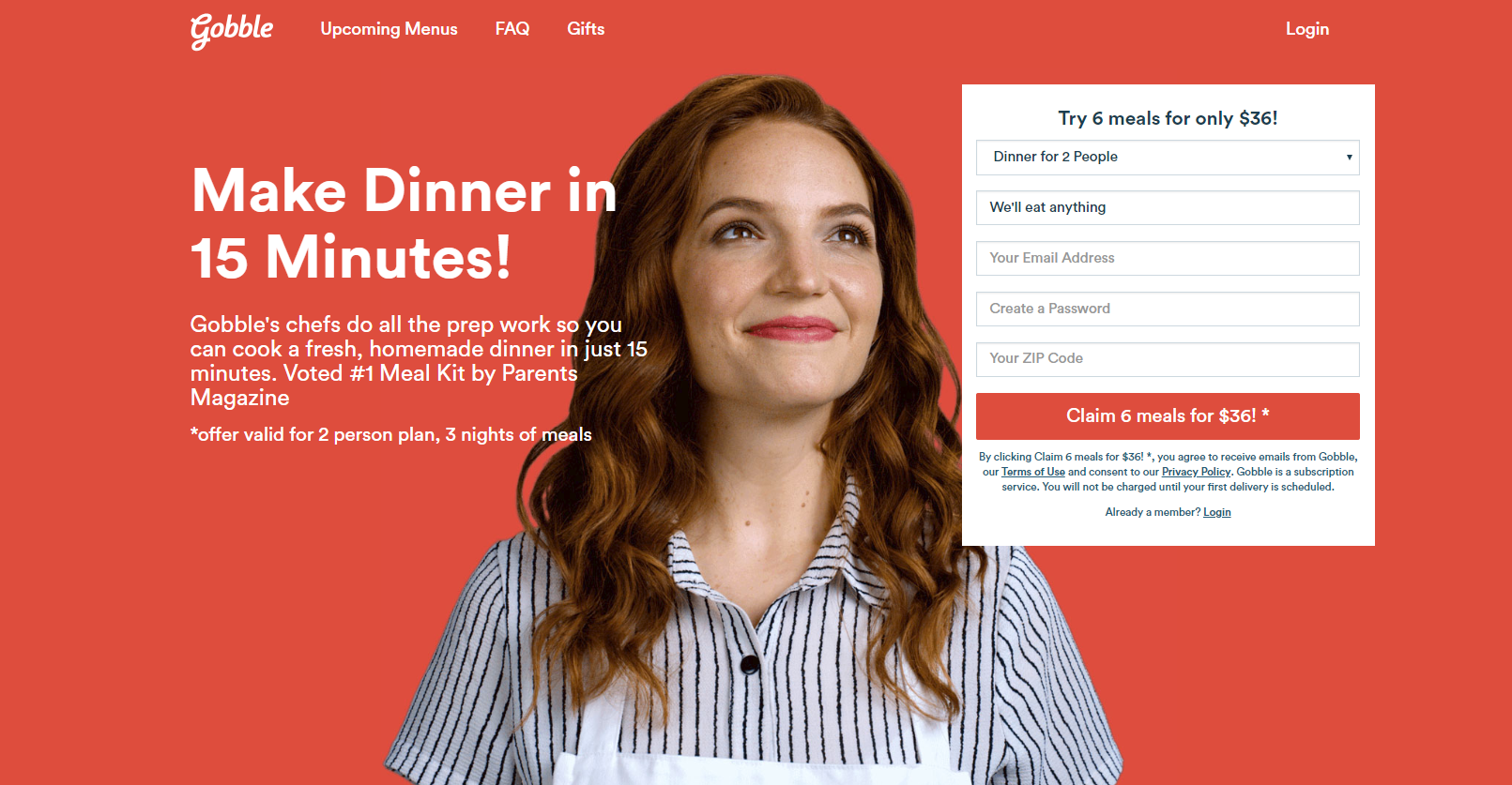 landing page anatomy for google ads campaign gobble part 1