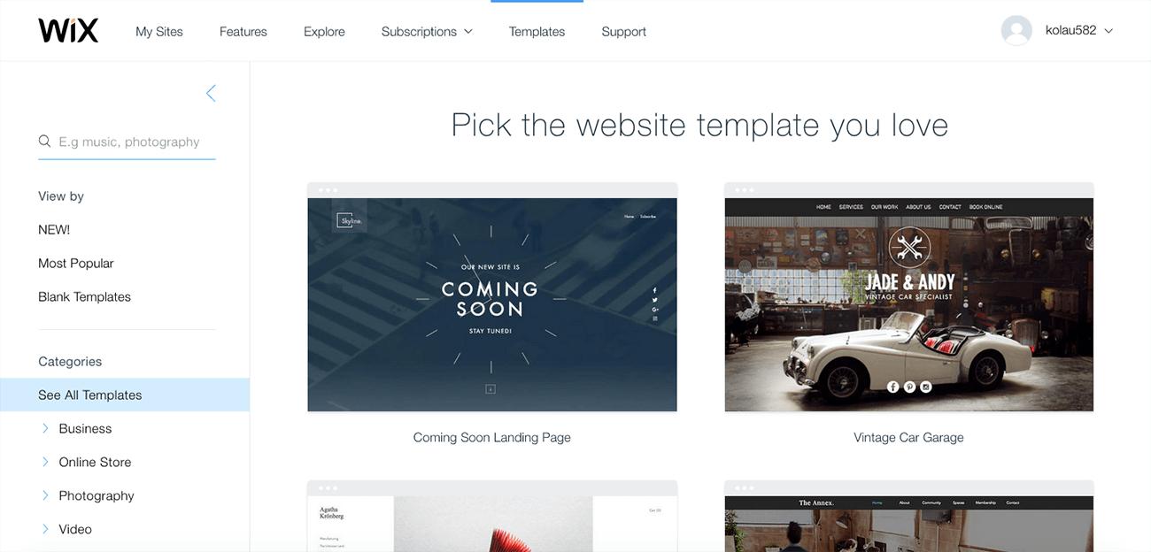 como crear una pagina web profesional wix
