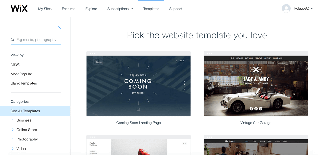 how to create a professional website wix