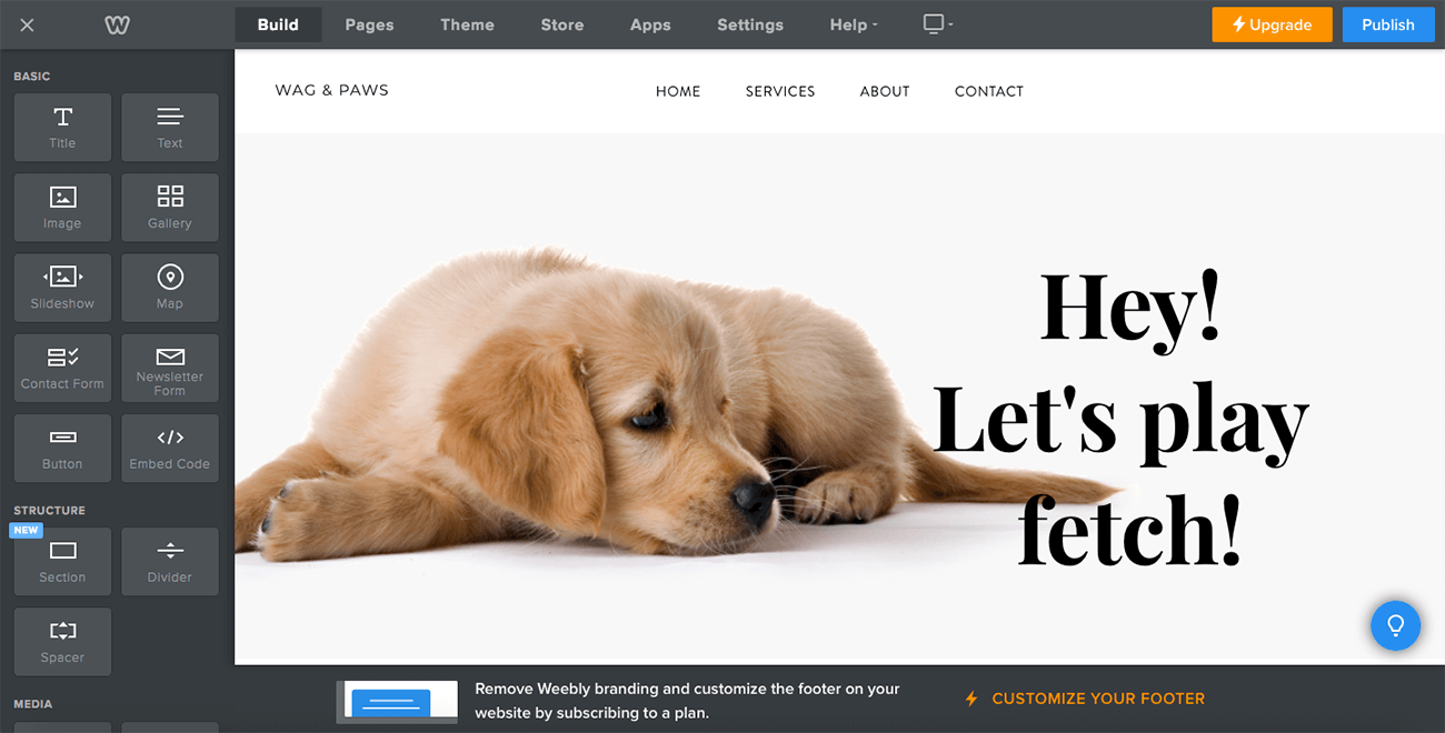 how to create a professional website weebly