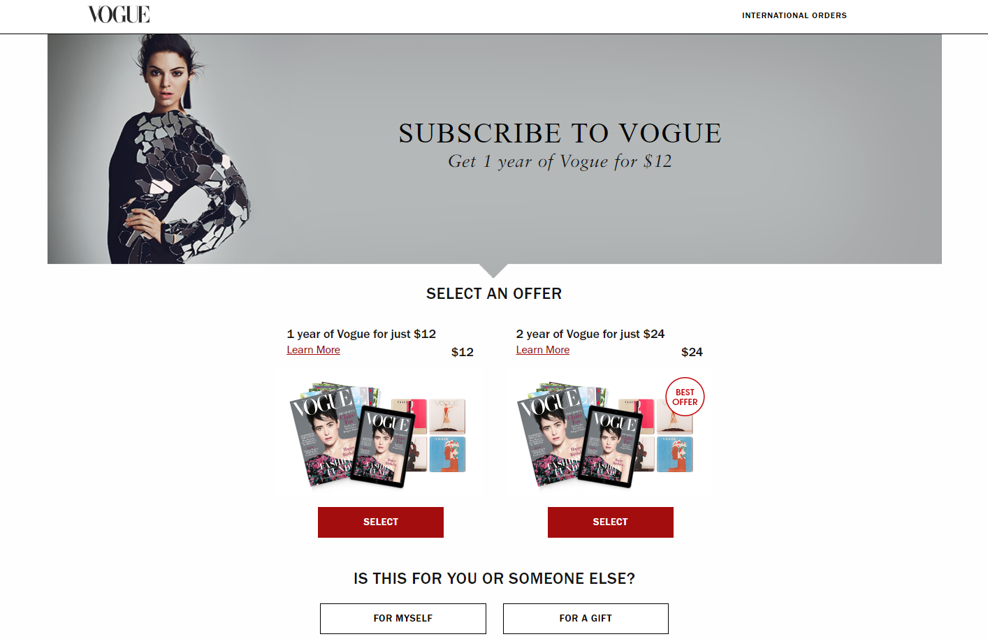 landing page anatomy for google ads campaign vogue landing page
