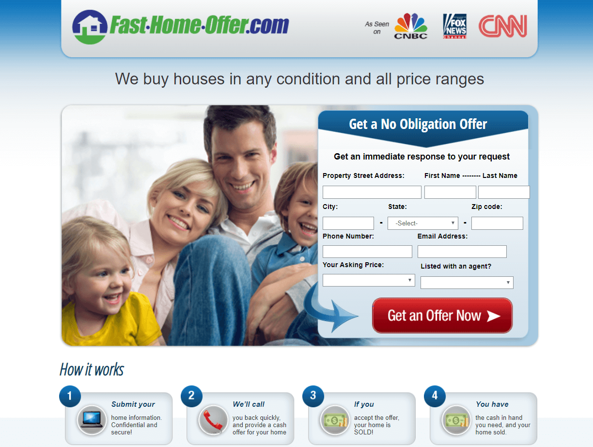 landing page for real estate what is your home worth